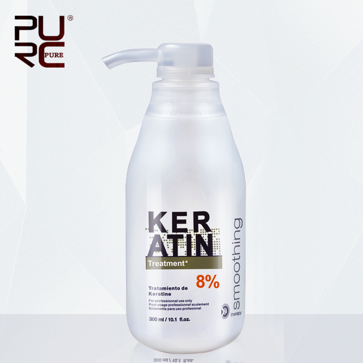 PURC Brazilian Keratin Treatment straightening hair 8% formalin 300ml Eliminate frizz and make shiny and healthier hair purc 8