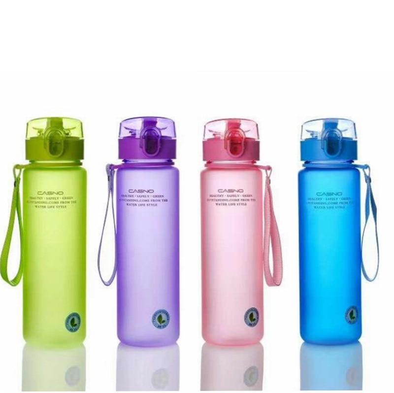 Outdoor Sport Portable Water Bottle Sealed Leakproof Travel Tydro Flask Coffee Tea Lemon Juice Drinkware Student Water Bottles
