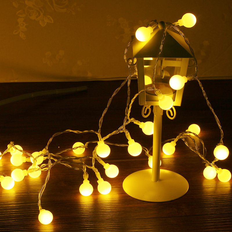 LED frosted ball lamp string 10 meters 100 lights plug wedding lantern decorating lamp