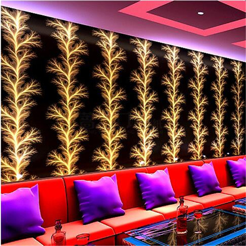 Beibehang KTV Box Wallpaper Entertainment Aisle Background Wallpaper Modern  Minimalist Purple Red Black Gold Foil Wallpaper