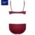 Burvogue mulheres conjunto sutiã de renda push up conjuntos de sutiã cueca plus size impulso ajustável up bra e conjuntos de calcinha
