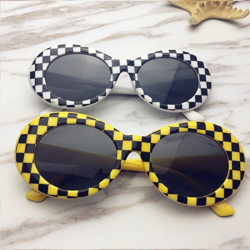 GOOD WIN Retro Clout Goggles White Black Lattice Sunglasses Women Vintage Kurt Cobain Sunglasses for Men Brand Designer UV400