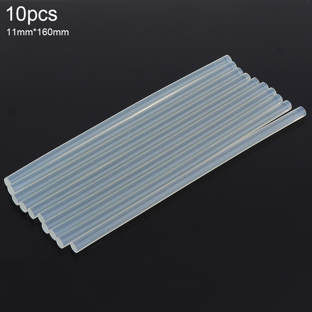 10pcs/set 11mm x 160mm Transparent Hot-melt Gun Glue Sticks Gun Adhesive DIY Tools for Hot-melt Glue Gun Repair Alloy Accessorie oem 30 x 30 diy 30x30cm