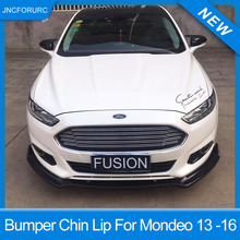 New Design 3pcs Bumper Chin Lip Spoiler For Ford Mondeo Fusion 2013 14 15 16 Quality PP Plastic Bumper Lip Trim Cover For Mondeo цена 2017
