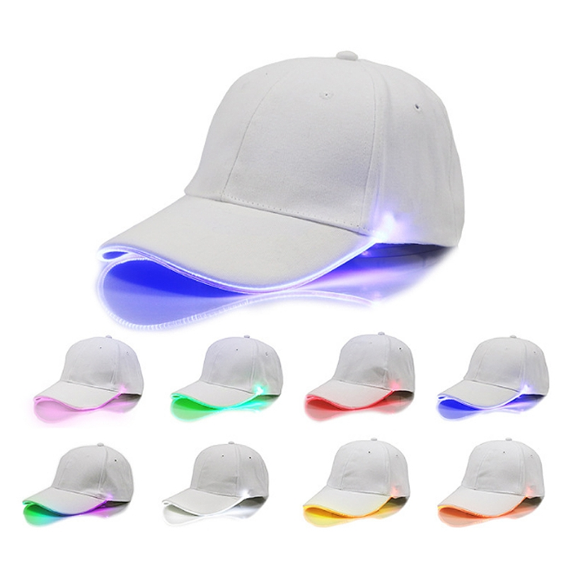 New Adjustable LED Lighted Up Hat Glow Club Party Baseball Hip-Hop Golf  Dance Cap d1170039718c
