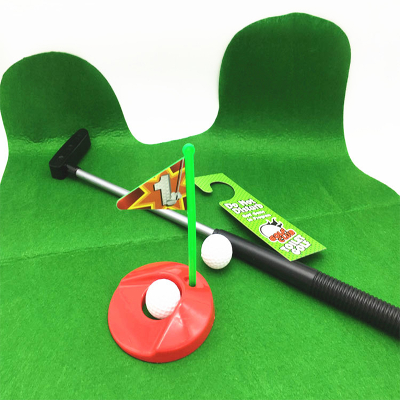 Toilet Golf Putter Set Bathroom Mini Putting Novelty Play On The Accessories Sets In