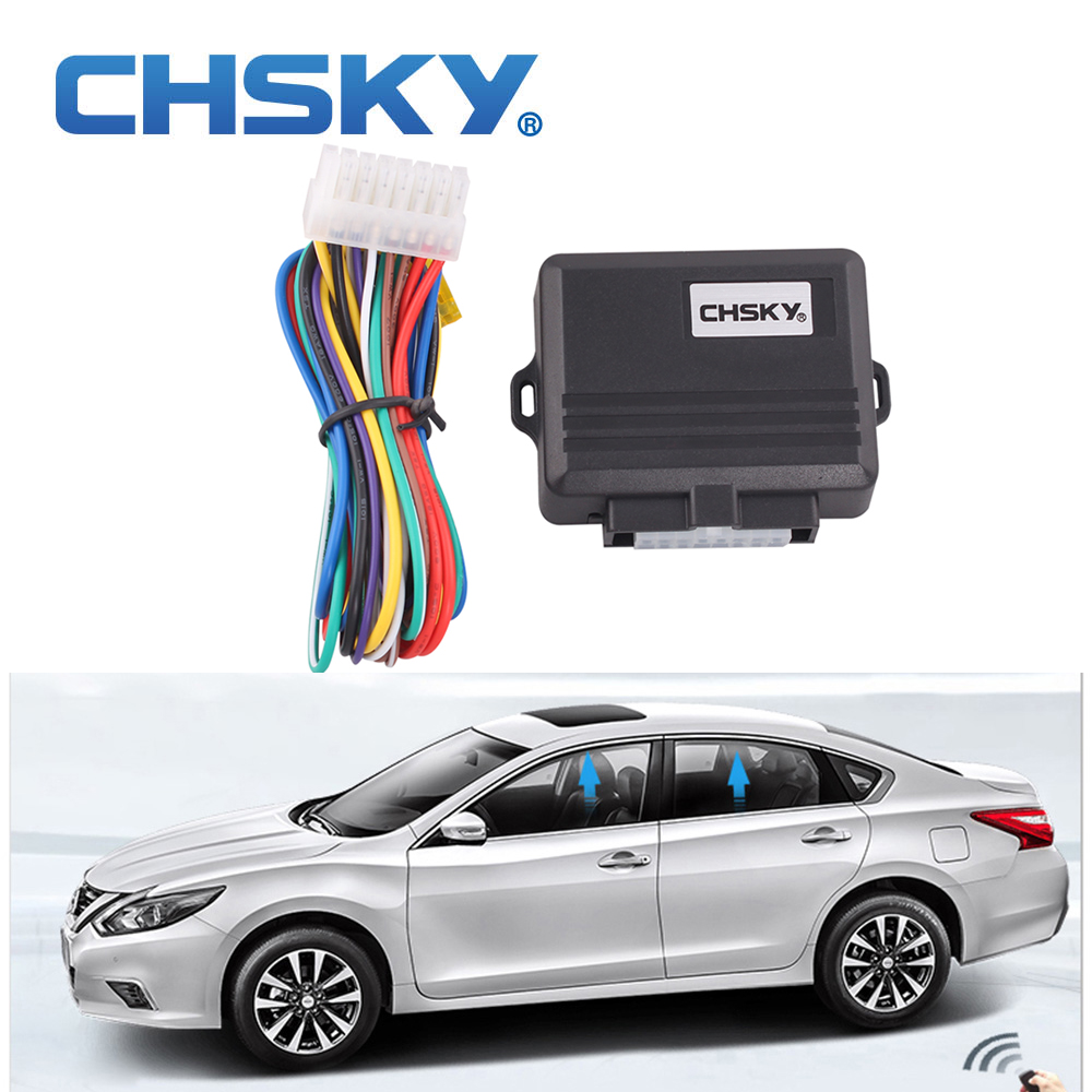 Chsky car alarm systems universal car power window roll up for Power window motors for cars
