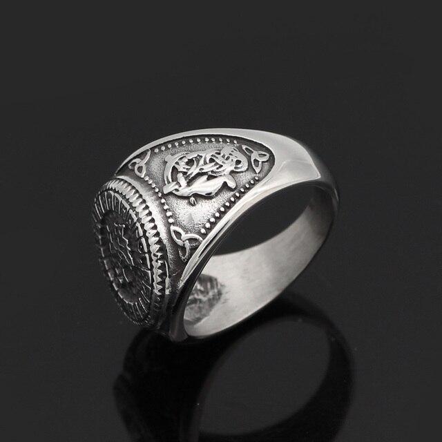 Norse Viking Wolf Rune Ring 2