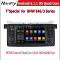 Чистая Android 5.1 Quad Core Автомагнитола DVD GPS Навигации Стерео для E46 3 Серии M3 1998-2006 RAM 1 ГБ HD 1024*600 бесплатная доставка доставка