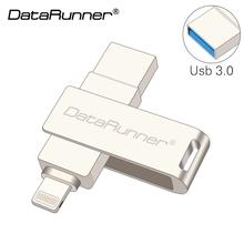 DataRunner OTG USB Flash Drive 32gb USB Stick 3.0 Pen Drive 8gb 16gb Usb 3.0 Flash Drive Pendrive for iPhone/iPad/Computer