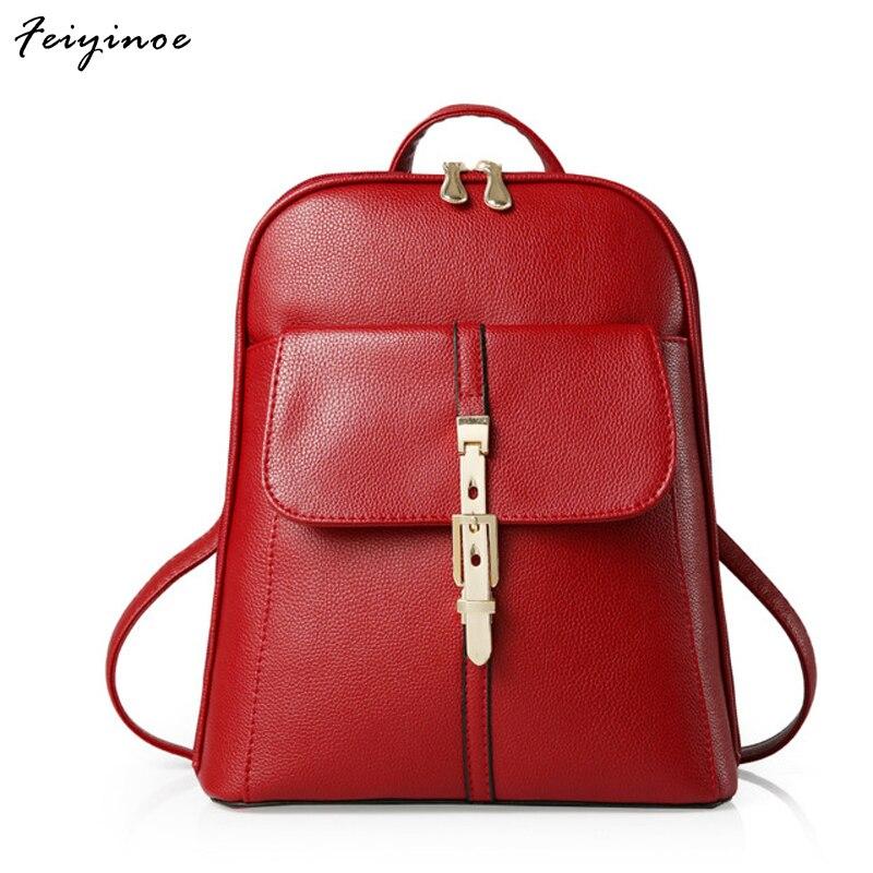Women backpacks school bags students backpack ladies women s travel bags leather package