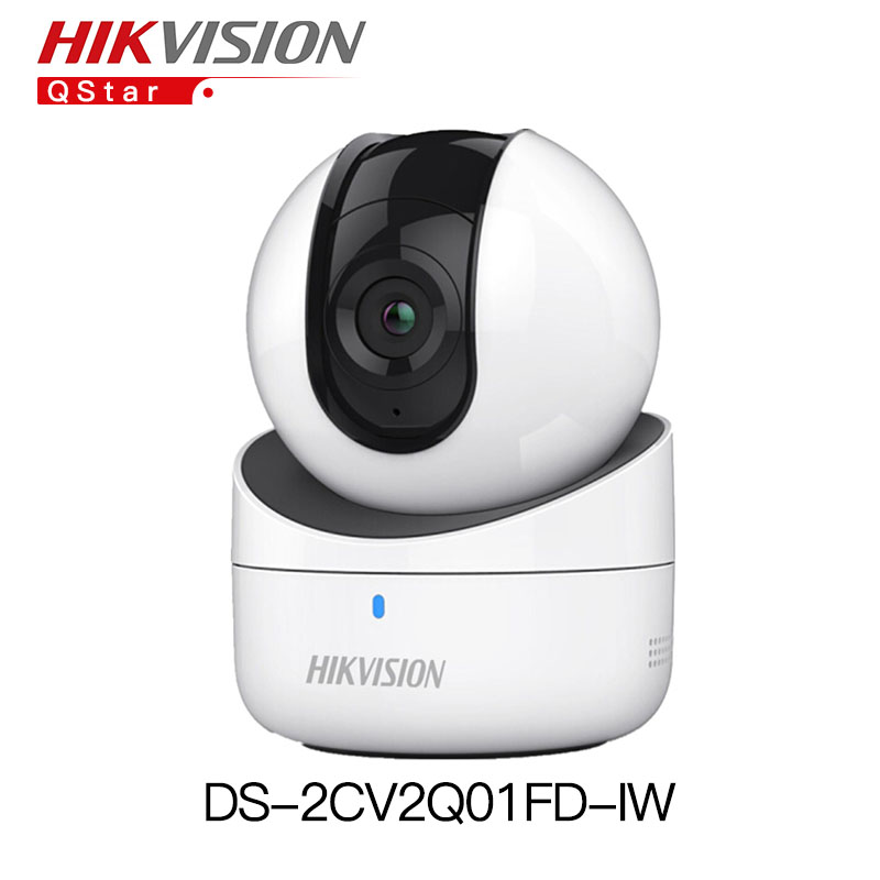 Hikvision mini wifi PT Camera HD720P CMOS DS-2CV2Q01FD-IW Build-in Microphone Speaker Wifi Baby Monitor IP Camera support SDCard hikvision ds 2cd2442fwd iw wifi camera 4mp ir cube wireless ip camera poe ip camera baby monitor wireless security cam
