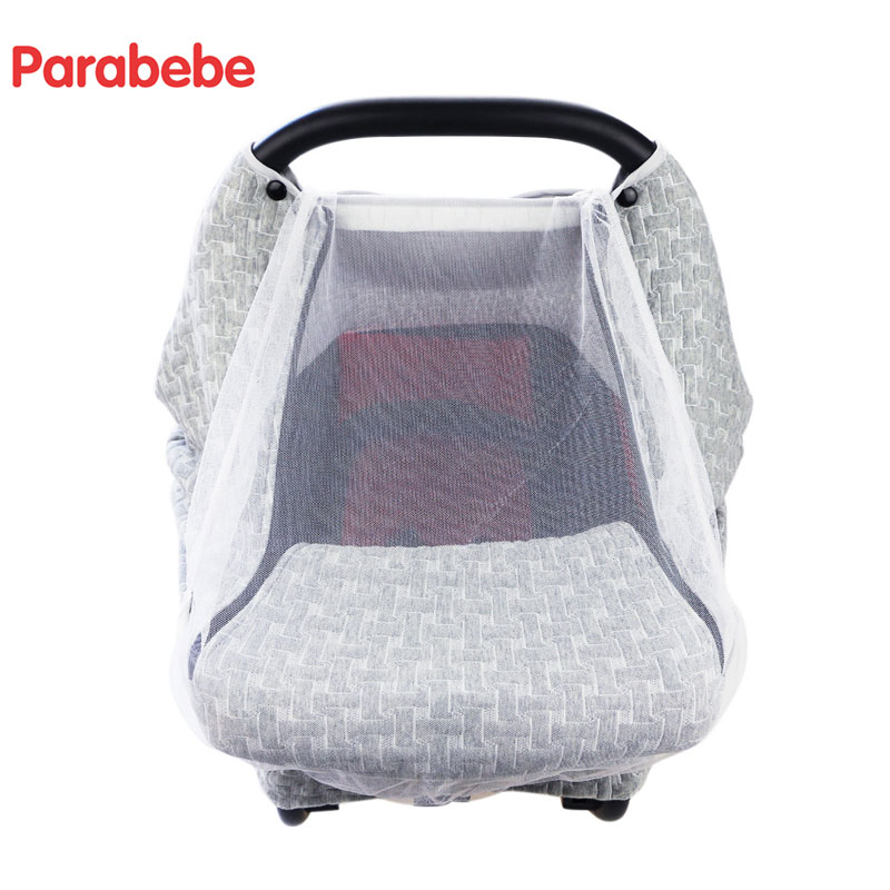 luxury baby car seat cover for newborn mesh canopy car seat accessories carseat cover infant. Black Bedroom Furniture Sets. Home Design Ideas