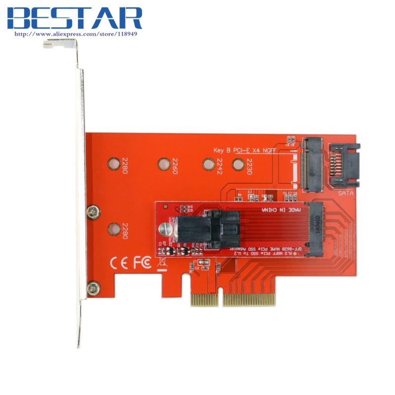 PCI-E pcie 3.0 x4 Lane Host Adapter M.2 NGFF M Key SSD to U.2 U2 Kit SFF-8639 for Mainboard Intel SSD 750 p3600 p3700