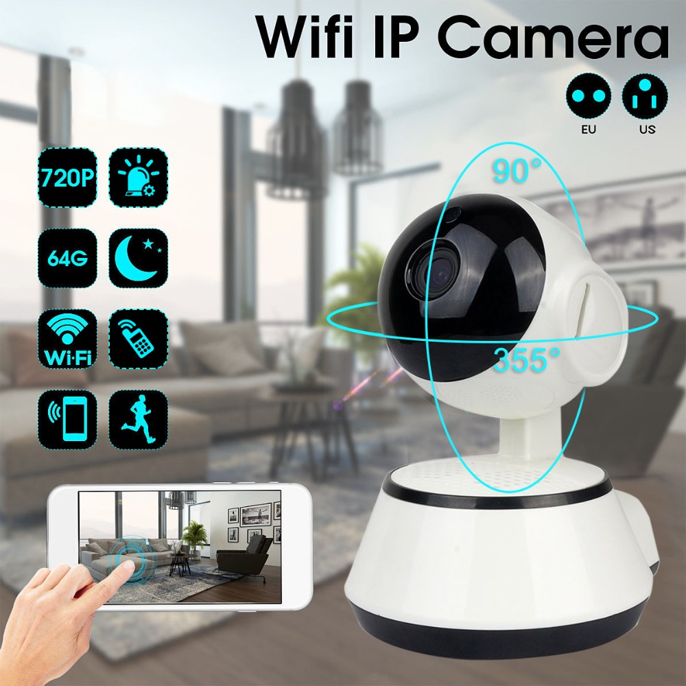 LESHP Baby Monitor Wifi IP Camera 720P HD Smart IP Camera Two-Way Talk Audio Record Camera Home Security Camera Night Vision