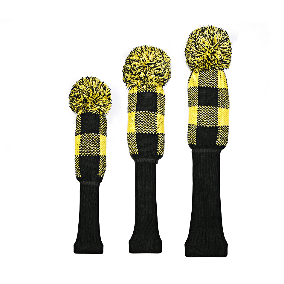 Image 5 - golf clubs headcover lattice Knitting wool Fairway wood Headcover Golf Accessories 3pcs/set free shipping-in Golf Clubs from Sports & Entertainment