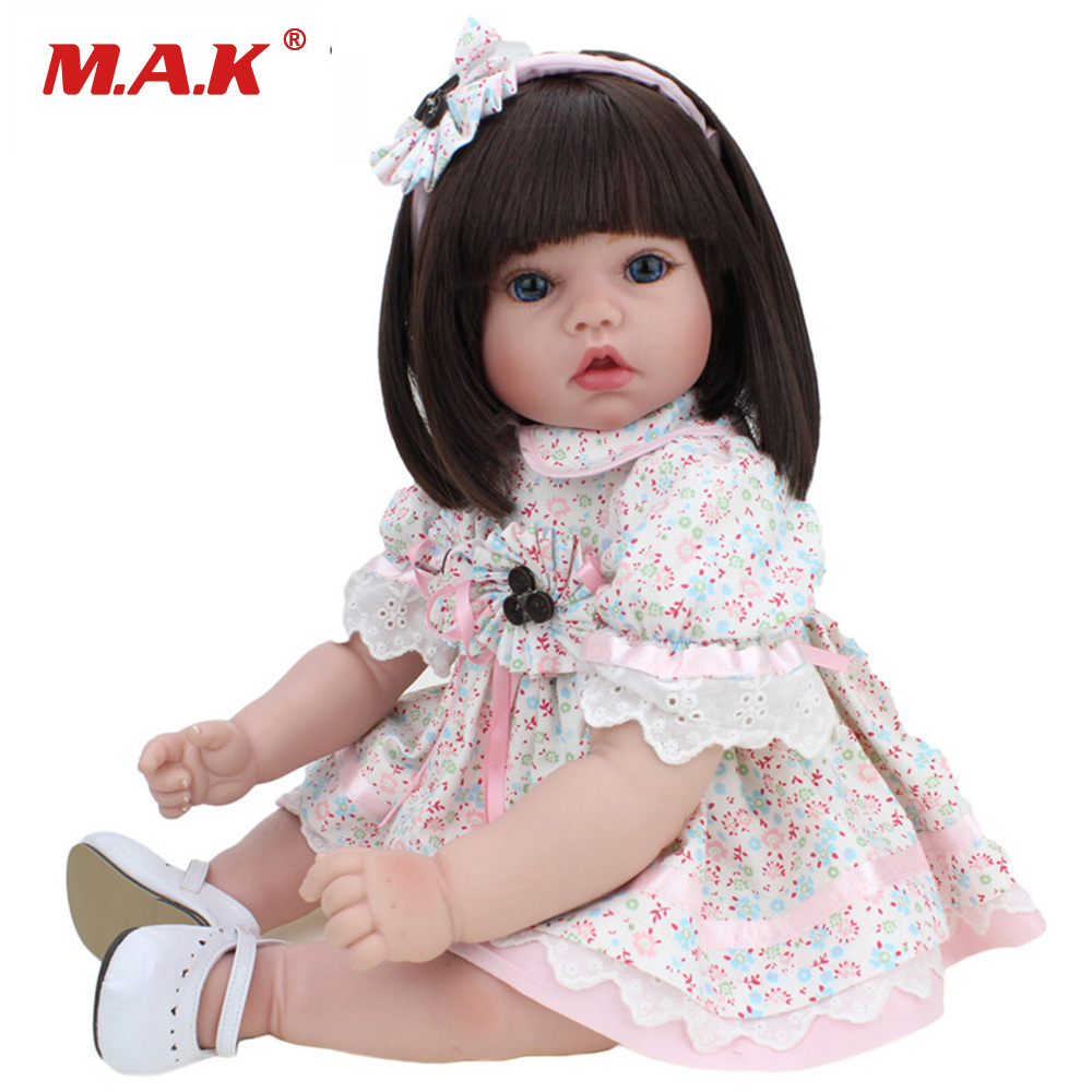 22 inches 55 CM Silicone Vinyl Baby Reborn Girl Silicone Bebe Dolls Lovely Girl Doll With Clothes for Children 22 inches 55 cm sleepling baby reborn dolls lifelike realistic silicone vinyl girl bebe dolls reborn doll for children gift