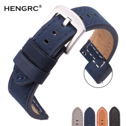 Cowhide Watchbands 18 20 22 24mm Women Men Quick Release For Samsung Gear S3 Genuine Leather Vintage Watch Band Strap