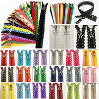 10pcs 3# Star Lace(12/16inch) 30/40CM Star Lace Zippers Sewing Tailoring Accessories 20 Color