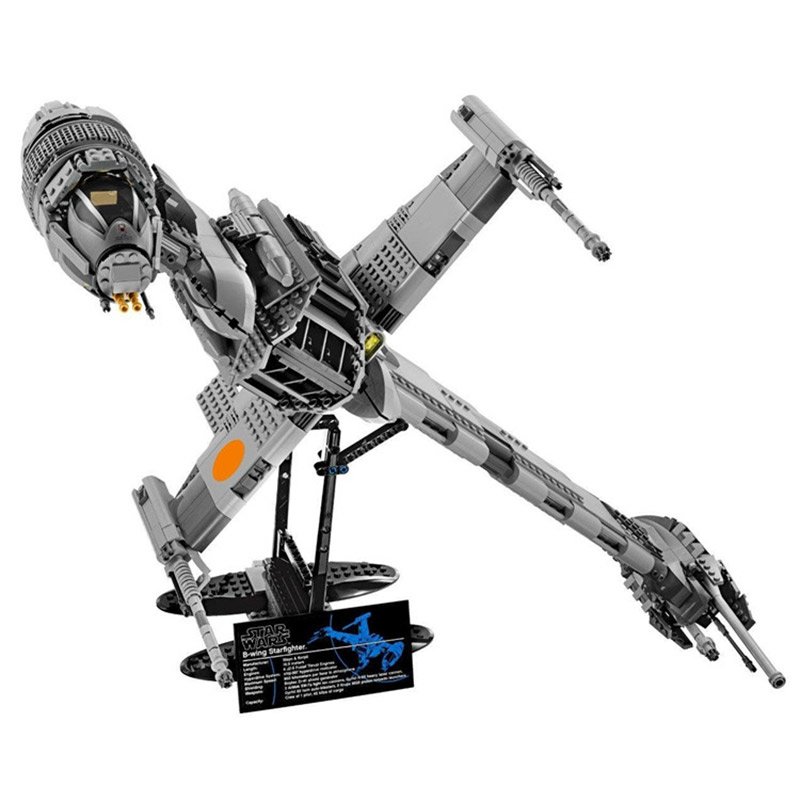 все цены на Star Wars Series POWER OF THE JEDI B-wing Starfighter Building Blocks 1487pcs Brick Toys Compatible With Legoings Star War 10227