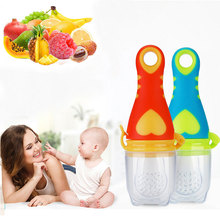 цена на New Baby Pacifier Nipple Infant Fresh Food Milk Nibbler Feeder Newborn Feeding Tool Safe Vegetable Chew Supplies Bags Holder