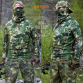 Exército tático de proteção padrão Python t-shirt para homens Esportes Ao Ar Livre de Secagem rápida T-Shirt Longo Para Airsoft Caça Camping