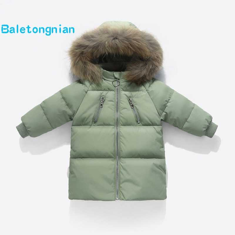 0fbfef38bb6f 2018 Clothes For Girls Kids Warm Outerwear White Duck Down Jacket For Girl  Winter Coat Boy