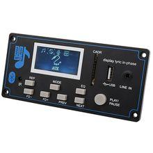 Tablero de audio MP3 para coche de 9 12V CC, con bluetooth, USB, SD, FM, AUX, decodificador, módulo MP3 WMA, altavoz DIY, Amp, Teatro en Casa