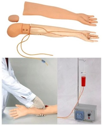 Advanced arm venipuncture and intramuscular training model (with electronic blood circulation device)Vein and skin can replacedAdvanced arm venipuncture and intramuscular training model (with electronic blood circulation device)Vein and skin can replaced