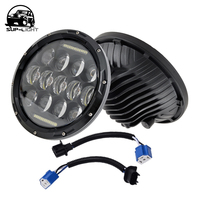 2pcs Lot 75w H L Beam H4 H13 LED Headlight With DRL 7 Headlamp For