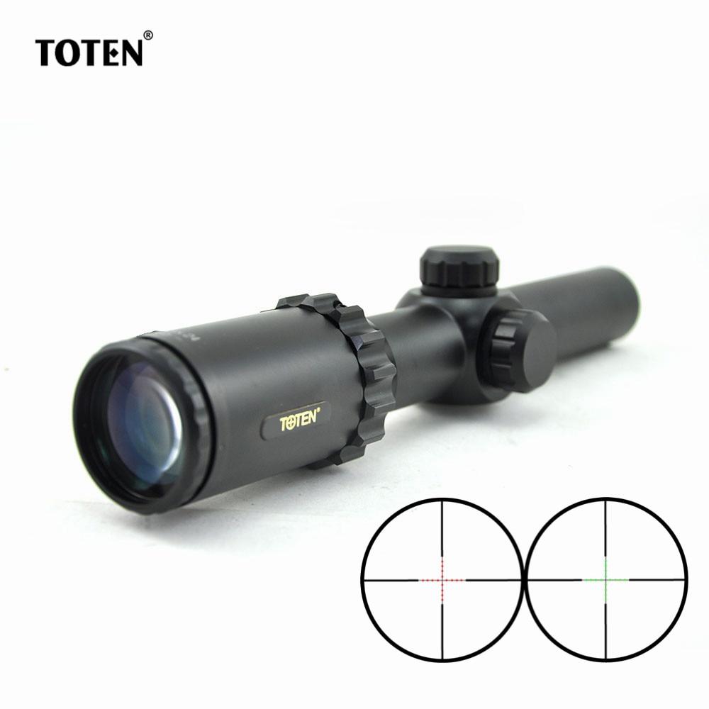 TOTEN 1 8x24L Waterproof Riflescopes 5 Level Red Green Illuminated Riflescope Hunting Scopes Carbine Optics Scope
