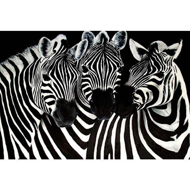 Captivating NEW 5D Round Diamond Embroidery Zebra Wall Decor Puzzle Diamond Painting  DIY Diamond Mosaic Picture Of