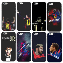 Barcelona Soccer Star Ronaldo Messi Neymar Jersey Pattern Soft TPU Phone Cases For iPhone X 8 7 6 6S Plus 6Plus 5 5S SE Cover(China)