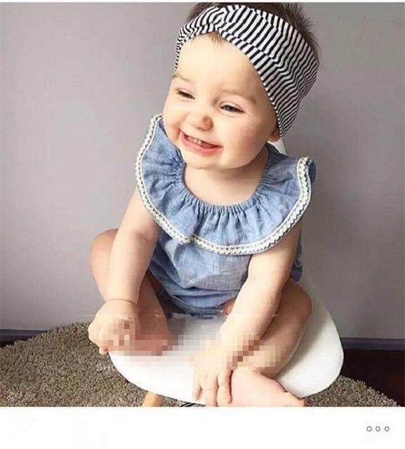Bebé traje de mezclilla 2016 del verano sin mangas de algodón traje de los bebés de los mamelucos establece culottes ropa de bebé envío gratis