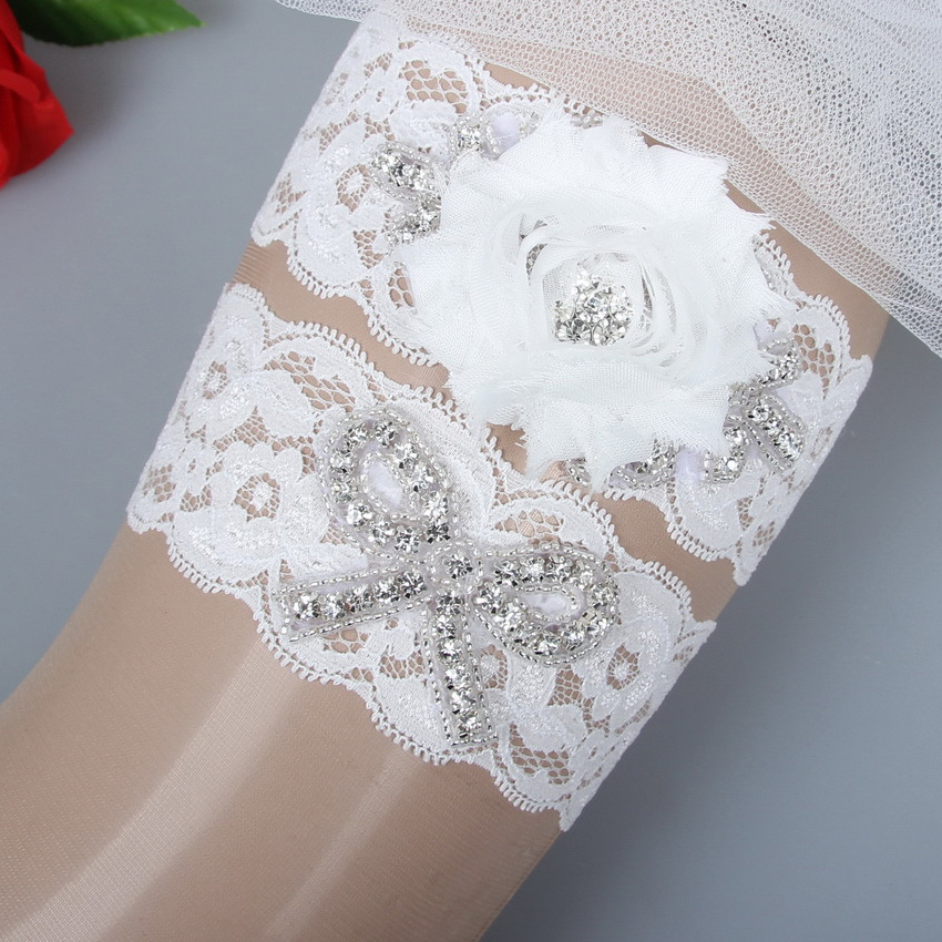 Ivory Garters Wedding: Bridal Garter Set Wedding Garter Crystal Rhinestone On A