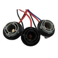 YSY 2x1156 7506 P21W BA15S LED enchufe de bombillas arnés Enchufes hembra soporte adaptador conector ba15s bombilla cables de alambre