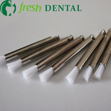100PCS dental Latch style stick shape flat Prophylaxis brush polishing nylon brush Dentist Prophylaxis nylon brush SL-PB300