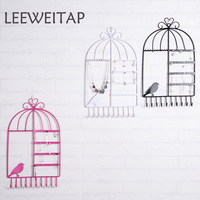 Hanging bird cage, jewelry storage rack, earring necklace and other space saving hangers