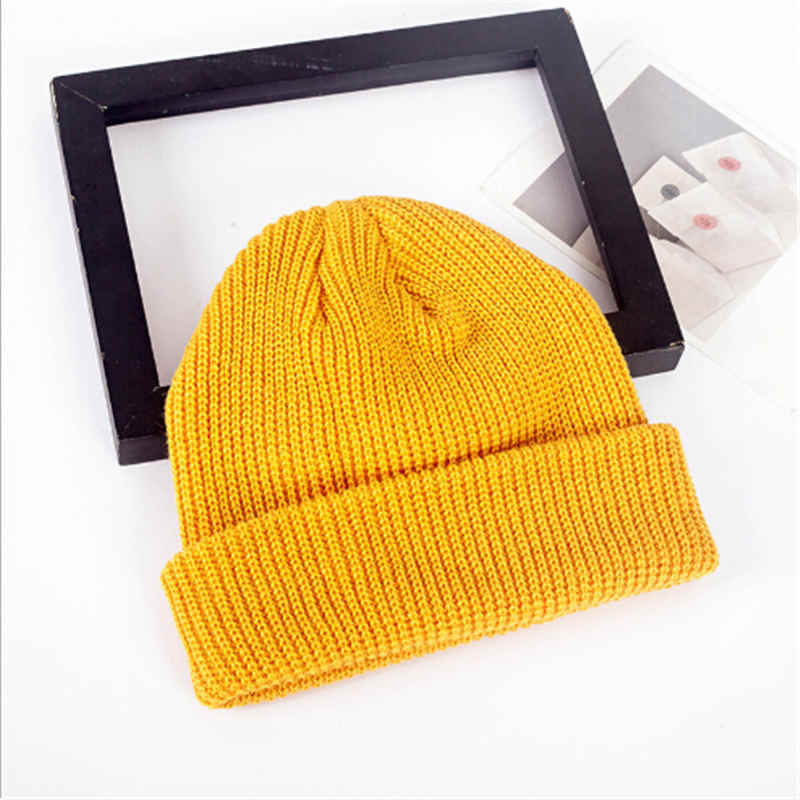 64dacf80f78 ... Fashion Men Women Beanie Hat Winter Warm Knitted Solid Cute Cap Casual  Bonnet Turn Ski Fisherman