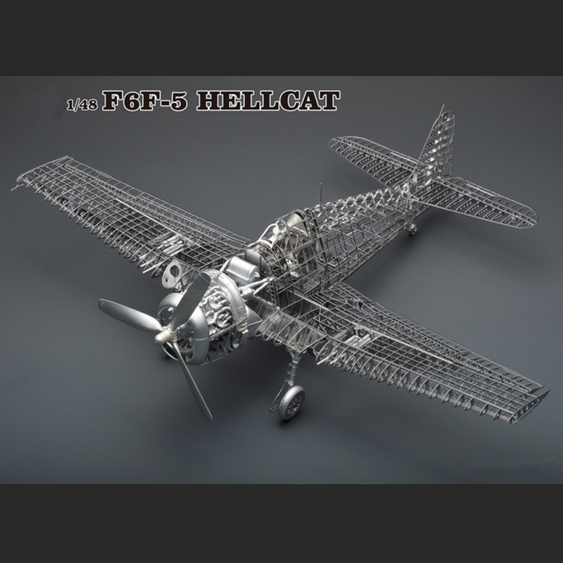 1:48 Grumman F6F Hellcat Fun 3d Metal Diy Miniature Model Kits Puzzle Toys Children Educational Boy Splicing Hobby Building rare hobby master 1 72 hellcat f6f hellcat fighter model limited edition ha1103 favorite military model