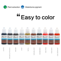 10 bottle Tattoo Ink Pigment For Permanent Makeup Easy To Wear Micro Pigment Eyebrow Eyeliner Lip Body Tattoo Art Beauty Tools