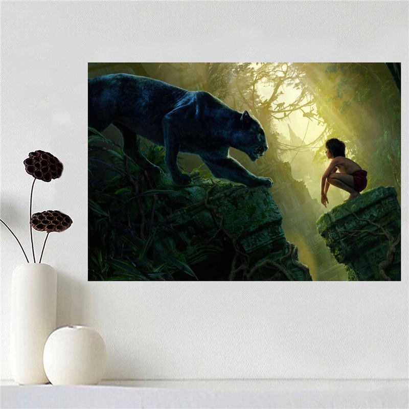 Custom canvas poster The Jungle Book poster cloth fabric wall poster print Silk Fabric Print SQ0511-J01