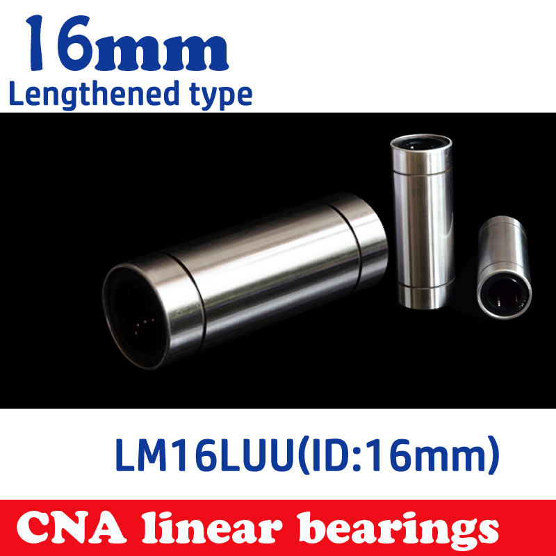 4pcs LM16LUU long type 16mm linear ball bearing CNC parts for 3D printer Free shipping 4pcs new for ball uff bes m18mg noc80b s04g