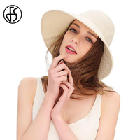 Summer Hat Women 2017 Fashion Foldable Beach Hats 100 Cotton Wide Large Brim Floppy Gorro Visors