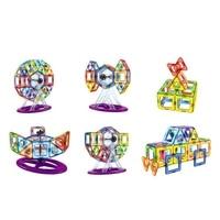92 Pcs/lot Diy Magnetic Building Blocks Magnetic Construction Blocks Ferris Wheel Toys 3d Magnetic Designer Educational Bricks