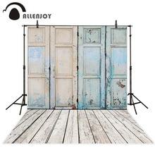 Allenjoy צילום רקע ישן בית עץ דלת רצפת ילדי ילדה חדש עיצוב בד תפאורות