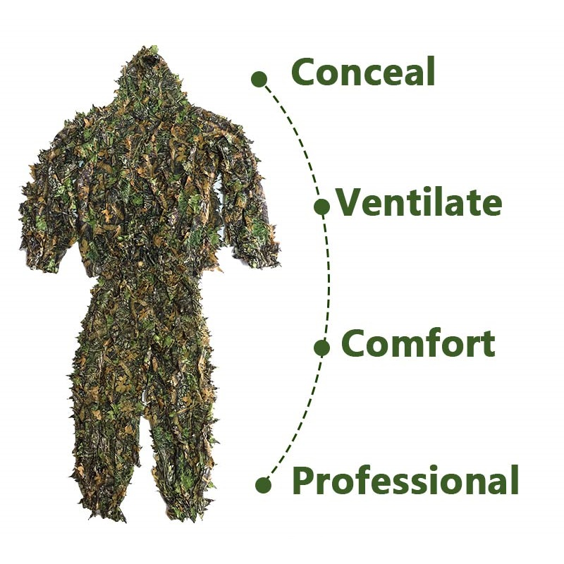 NEW CS 3D Leaf Yowie снайперы Ghillie Suit Джунгли - Спорттық киім мен керек-жарақтар - фото 4