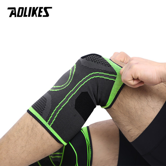 AOLIKES 1PCS 2019 Knee Support Professional Protective Sports Knee Pad Breathable Bandage Knee Brace Basketball Tennis