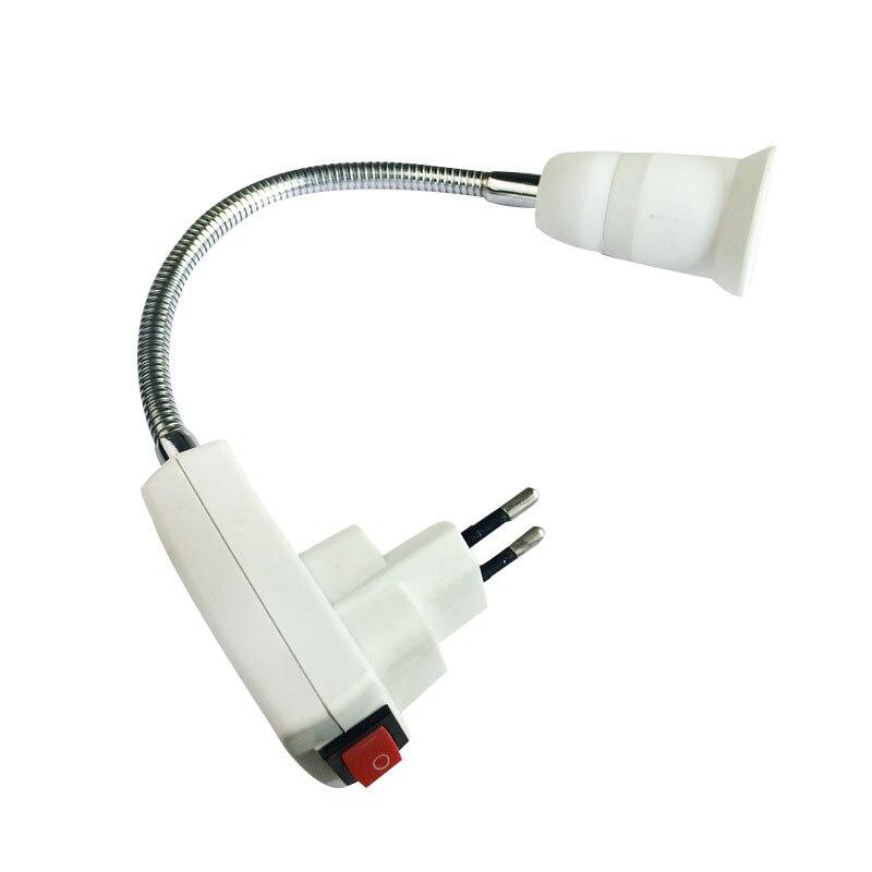E27 Flexible Продлить Extension Светодиодные Лампы Основание Светильника Держатель Винт Разъем Адаптер Конвертер ЕС H7