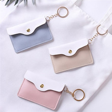 1PCS Leather Wallet For Women And Men Coin Purse Mini Keycha